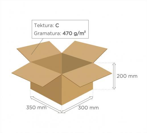 karton klapowy tekt 3 350 x 300 x 200 bezpieczna przesy ka. Black Bedroom Furniture Sets. Home Design Ideas